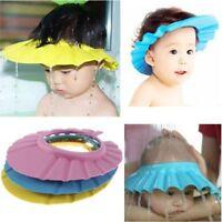 Soft Kids Shampoo Baby Shower Cap Wash Hair Shield Hat Bathing