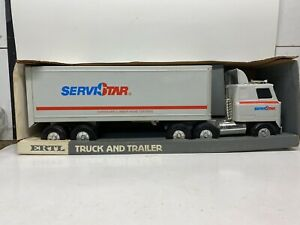 "Ertl Pressed Steel 22"" McLane ServiStar 18 Wheeler Truck And Trailer NIB"