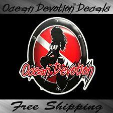 Mermaid Ocean Devotion Vinyl Decal / Sticker - Scuba Dive Car Window Salt Life