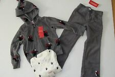 Gymboree Holiday Penguin Chalet Girls Size 3-4 Fleece Jacket 4 Pants Top NWT