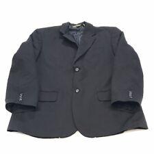 Cubavera Men's Suit Jacket XL 44 Black Pinstripe 2Button Lined Long Sleeve