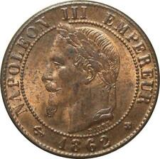 O6706 1 centime Napoléon III Laurée 1862 BB Strasbourg SPL RED LUSTER