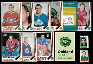 1969-70 O PEE CHEE 69-70 OPC NHL HOCKEY CARD 1-132 + STAMP SEE LIST