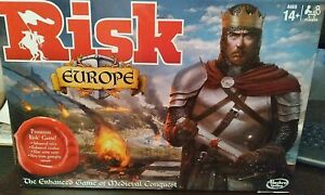 NEW SEALED - RISK EUROPE Premium Board Game Medieval Conquest Strategy Hasbro