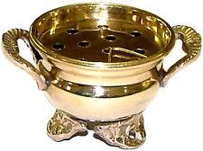 "3.5 "" Brass Cauldron Incense Charcoal Resin Sage Smudge Burner FREE SHIPPING"