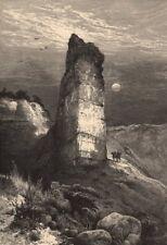 UTAH. Monument Rock, Echo Canon 1874 old antique vintage print picture