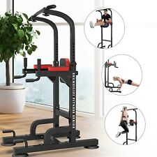 Power Tower Dip Station Pull Up Bar Home Gym Strength Training Workout Equipment