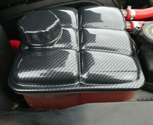 Ford Focus mk2 RS ST header expansion tank and cap cover ABS carbon fibre effect