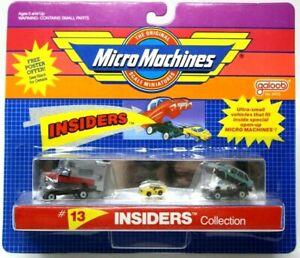 INSIDERS #13 Micro Machines Set Pickup w/ Camper & Ford Taurus + Ultrasmall D42