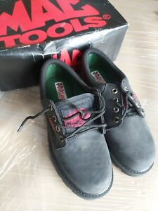 MAC TOOLS FASTLANE BLACK LEATHER SHOES - SIZE 8UK. BOXED. OXFORD STYLE. USED VGC