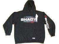 Shady LTD hoodie L black Eminem slim thrashed beat up hip hop rap sweatshirt