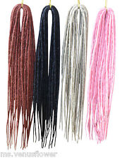 Dreadlocks hair extensions ebay dreadlocks double ended synthetic singular dreads choice of colours pmusecretfo Image collections