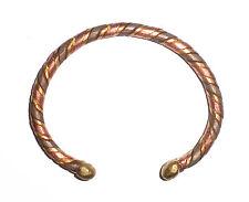 Bracelet Africain alliage cuivre laiton et fer torsadé anti-rhumatisme