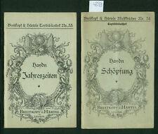 Haydn Jahreszeiten Schöpfung Textbibliothek 1917 Freigabe Generalkommando