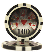 50pcs High Roller Casino Laser Clay Poker Chips $100