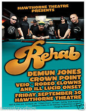 REHAB / DEMUN JONES 2011 PORTLAND CONCERT TOUR POSTER -Alternative Rock Hip-Hop