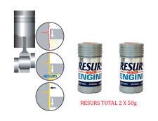 RESURS Total 2X 50 g Nano Engine Oil Additive Engine Restorer 2 X 1.76oz Nano