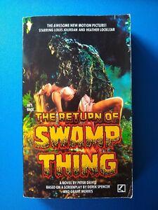The Return of Swamp Thing, by Peter David - paperback, film tie-in, Corgi, 1989