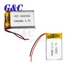 200/300mAh polymer battery 3.7V For Mp3 Bluetooth headphone Gps Pen 402030