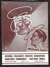 1945 NCAA National Championship Program NYU/Schayes v OK A&M/Kurland UNSCORED NM