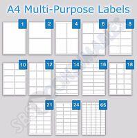 Printable Address Labels A4 Plain White Sticky Self-Adhesive Laser Copier InkJet