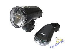 XLC Batterieleuchten Set Licht CL-S14 LED Frontleuchte & Rücklicht schwarz