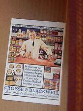 Postcard Advertising Crosse & Blackwell soup  Old Advert Modern card