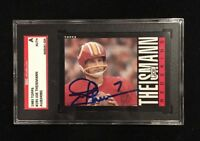 JOE THEISMANN 1985 TOPPS AUTOGRAPHED SIGNED AUTO FOOTBALL CARD SGC COA 190 REDSK