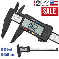 "150mm 6/"" LCD Digital Electronic Vernier Caliper Gauge Micrometer Black//Silver GT"