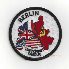 BERLIN CHECKPOINT CHARLIE PATCH US ARMY VETERAN PIN UP COLD WAR CCCP SOVIET USA