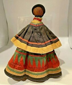 Vintage Patchwork Seminole Indian Palmetto Frond Doll Native American