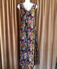 Handmade vintage long velvet velour holiday dress gown formal club unique 12 14