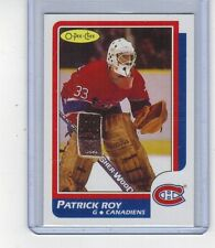 1986-87 O-Pee-Chee Patrick Roy Rookie Reprint Card Nrmt to Mint