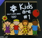 2002 Salt Lake City Winter Olympic Pin Children Kids are #1 NEW