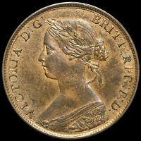 1860 Queen Victoria Bun Head Halfpenny