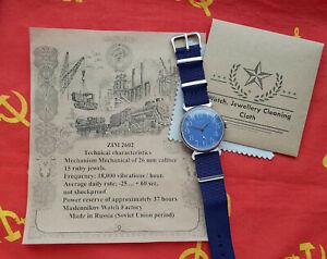 Vintage Sowjetisches Mechanische Armbanduhr POBEDA. UdSSR