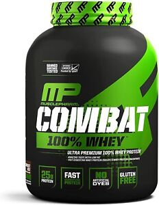 MusclePharm Combat 100% Whey, Muscle-Building Whey Protein Chocolate Milk 5lb