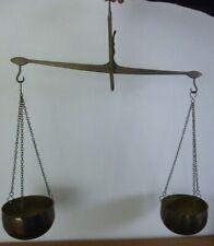 Vintage Brass Hanging Balance Scales slight bent pin