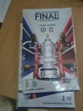 More details for fa cup final 2012 chelsea  v liverpool + both semi final programmes new