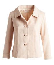 Size 10 Cream Button Up Blazer -1427