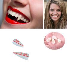 White vampire fangs - Set of teeth - Werewolf werewolve Halloween fancy dress up
