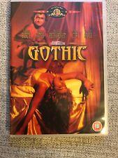 Gothic DVD 1986 British Mary Shelley Frankenstein Cult Drama Horror Classic