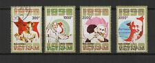 Vietnam 1990 Centenaire d'HÔ Chi Minh série de 4 timbres oblitérés /TR8441