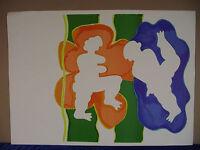 "Herbert Schneider, ""Zwei Figuren"", Farblithografie"