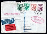 Austria Express fee paid Airmail postal history cover WS10887