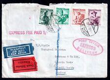 Austria Express fee paid Airmail postal history cover WS10887