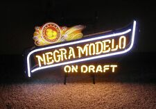 "Negra Modelo on Draft Beer Glass Neon Light Bar Sign - 26"" x 17"""