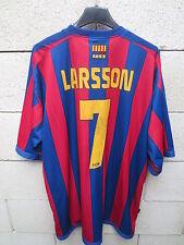VINTAGE Maillot BARCELONE BARCELONA camiseta LARSON shirt fotbollströja XXL foot
