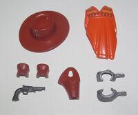 Playmobil Accessoire Personnage Cow Boy Chapeau Impacte + Pistolet + Héprons...