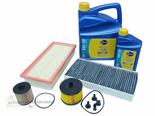 PEUGEOT 407 2.0 HDI JULY 08-12 OIL AIR FUEL CABIN FILTER & 6L OIL SERVICE KIT
